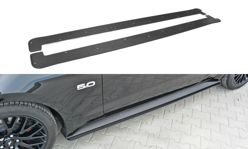 Dokładki Progów Racing Ford Mustang MK6 GT - GRUBYGARAGE - Sklep Tuningowy